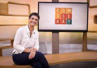 """O programa """"Como Será?"""", da TV Globo, é apresentado por Sandra Annenberg. Foto: Divulgação."""