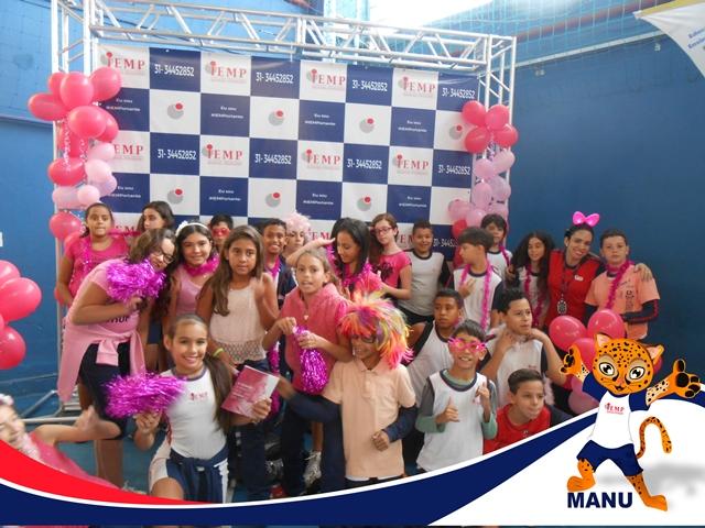 Instituto Educacional Manuel Pinheiro - promoveu no dia 24/10 uma ação em apoio ao Outubro Rosa, campanha mundial de conscientização quanto a importância da prevenção e do diagnóstico precoce do câncer de mama.