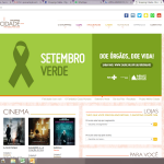 Banner no site do Shopping Cidade