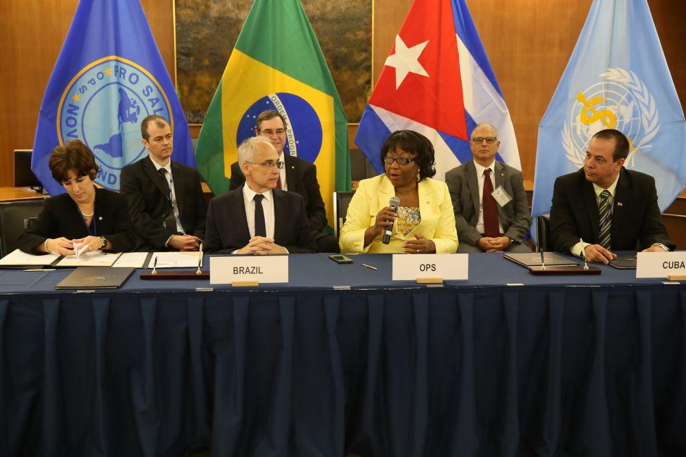 Brasil recebe certificado de eliminação do sarampo em 27/09/2016, durante a 55ª Reunião do Conselho Diretor da OPAS, em Washington, Estados Unidos.